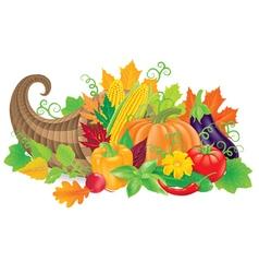 Cornucopia with harvest vector image