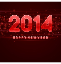 Happy New Year 2014 message vector image vector image