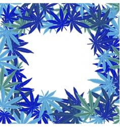 marijuana leaves vector image