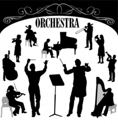 orchestra set vector image vector image