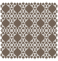 White pattern in islamic style vector image vector image