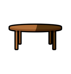 wooden table furniture decoration shadow vector image