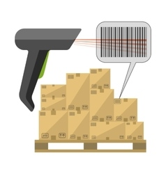 Code reader with boxes vector image