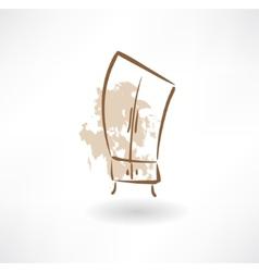cupboard grunge icon vector image vector image