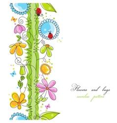 Cute floral borders vector image vector image