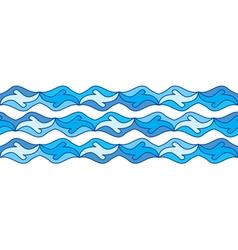 seamless sea border vector image
