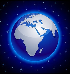 Blue Earth - Africa vector image