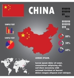 China Country Infographics Template vector image vector image