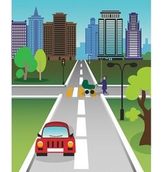 city road vector image vector image