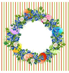 Easter Decorative Wreath vector image