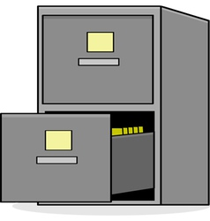 File cabinet vector image vector image