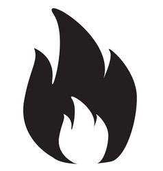 fire icon in flat style isolated on white vector image