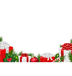 Gift Border vector image