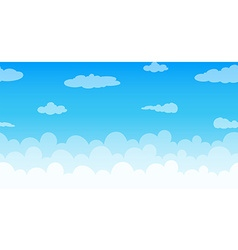 Seamless clouds floating in the sky vector image