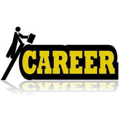 Career climb vector