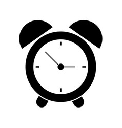 clock time alarm hour pictogram vector image