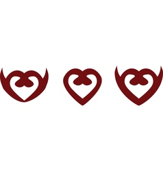 heart symbols vector image vector image