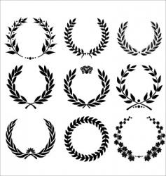 set - laurel wreath vector image vector image