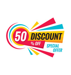 50 off discount - creative banner vector image