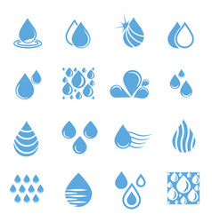 A set icons drop water vector