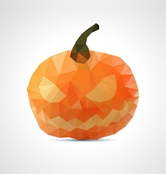 Abstract geometric angry halloween pumpkin vector