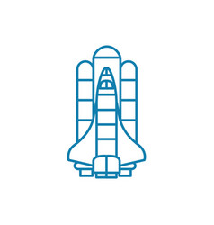American shuttle linear icon concept american vector
