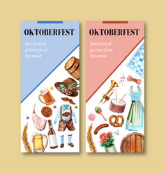 Barbecue beer and trachten outfit flyer design vector