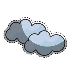 Beauty clouds weather sky vector