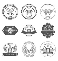 Bikers Repair Service Emblems Collection vector image