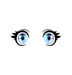 bright eyes wide open eyes beautiful eyes vector image