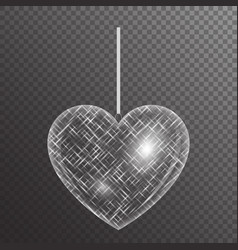 Bright heart with sparkles vector