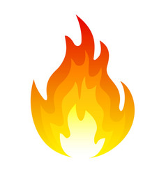 burning fire icon explosion and blazing element vector image