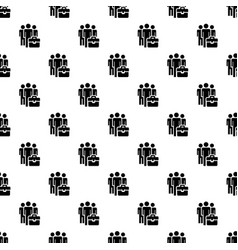 business people group pattern seamless vector image