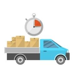 Car carrying goods vector