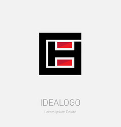 Ch logo c and h- initials monogram or logotype vector