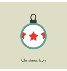 Christmas balls icon vector image