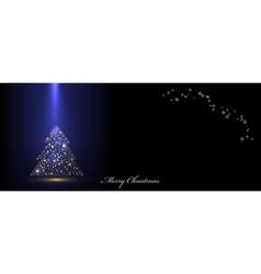 Christmas blue banner vector