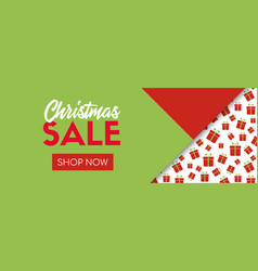 Christmas sale online shopping banner template vector