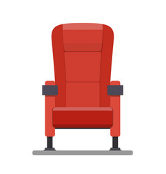 cinema red comfortable seat vector image