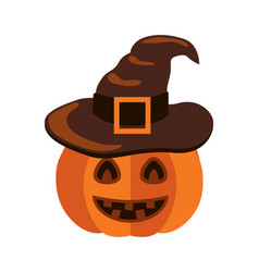 closeup of smiling pumpkin on vector image