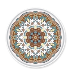 Colorful decorative plate with pattern vector