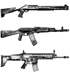 combat weapons 1 vector image