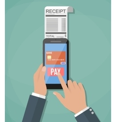 Concept of mobile payment vector image