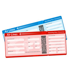 Creative of airline boarding vector