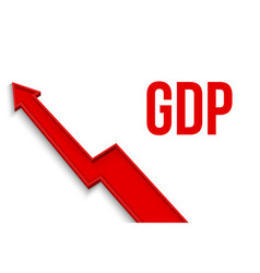 creative of gdp - gross vector image