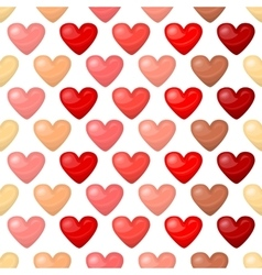 Cute shiny seamless heart pattern isolated on vector image
