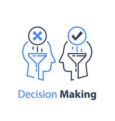 decision making negotiation or persuasion vector image