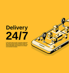 delivery service isometric vector image