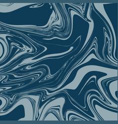 denim blue liquid marble background vector image