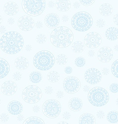 Doodle snowflakes seamless vector image